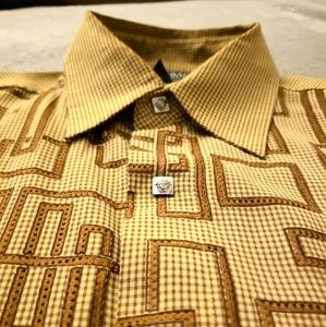 Vintage Versace Long Sleeve Button Up Mens XXL